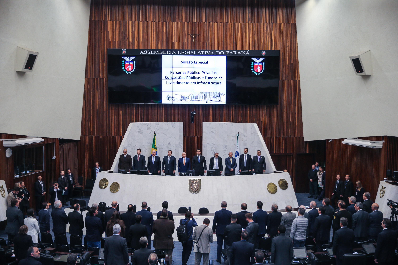 Governador Ratinho Junior participou de audiência da comissão especial, promovida pela Câmara dos Deputados na Assembleia Legislativa do Paraná