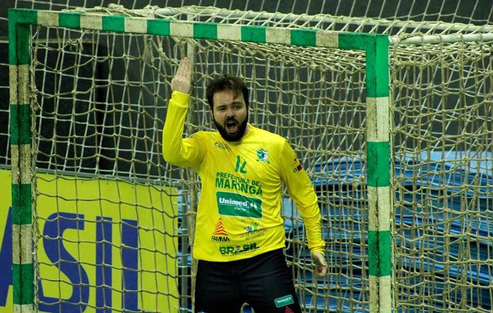 Goleiro e capitão do time masculino, Rafael Fondazzi, aponta que Maringá tem chance de título. Foto: Divulgação/Arquivo Pessoal