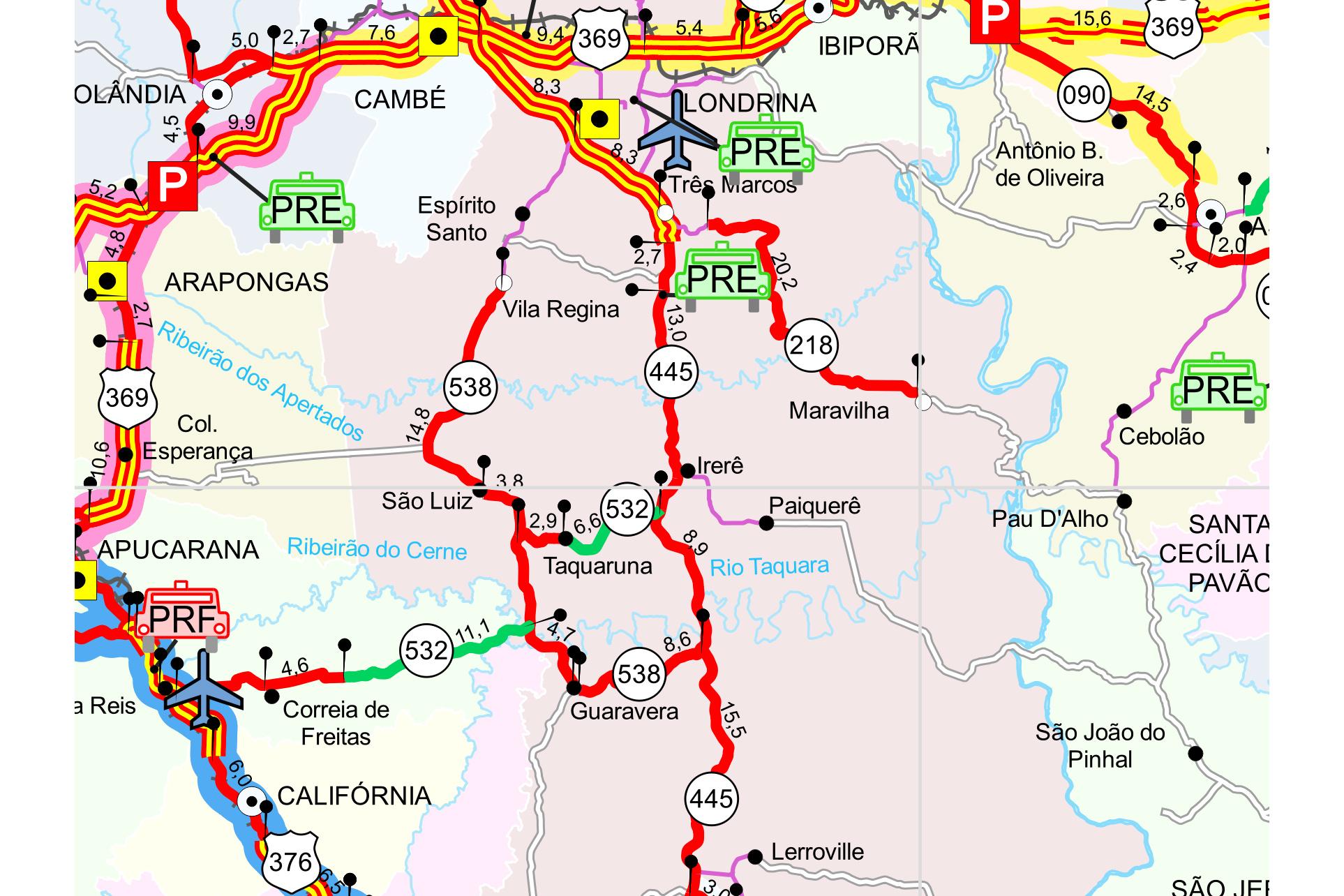 Rodovia será interditada entre a PR-532 e a Estrada da Cegonha, das 9h às 17h. Detonação acontece no Km 52, próximo ao distrito de Irerê, na região norte central