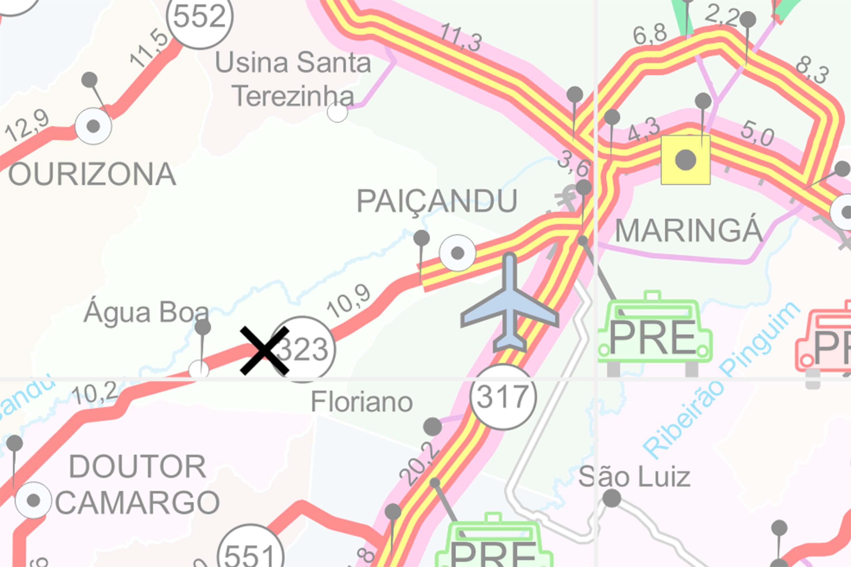 Aeroporto Regional de Maringá manifestou preocupação quanto à poeira causada pela detonação, que atrapalharia a rota de pouso dos aviões.