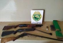 O preso e os objetos apreendidos foram encaminhados para a delegacia de Loanda. Foto: Divulgação/PM