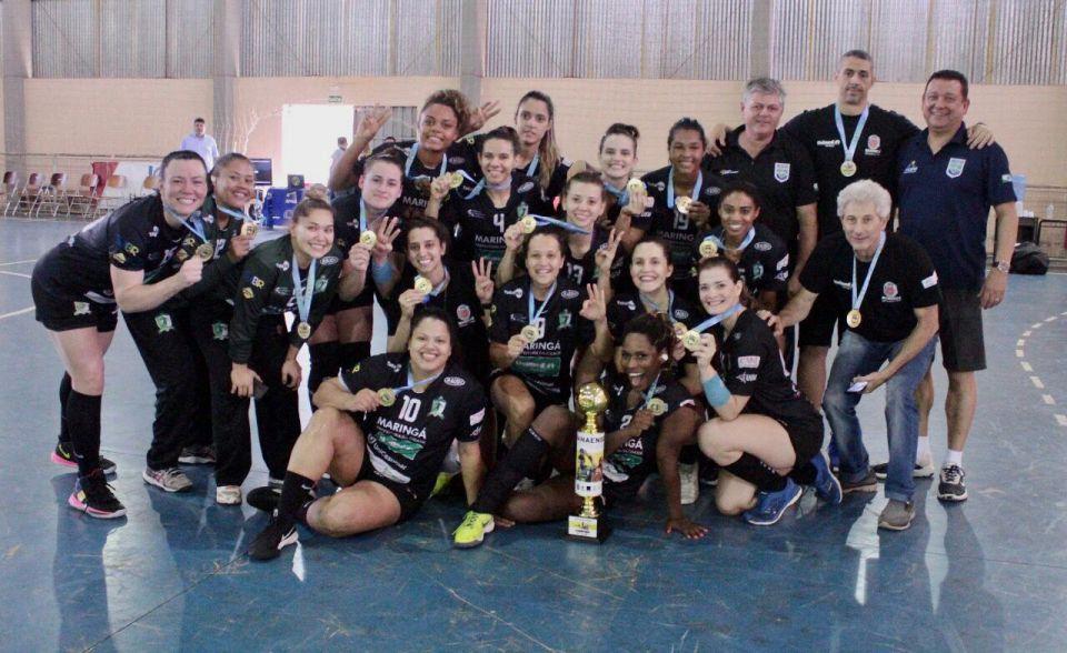A equipe feminina conquistou o tricampeonato depois de vencer Cascavel na final por 31 a 19.