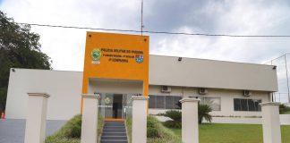 Nova sede em que vai funcionar a 4ª Companhia da Polícia Militar, na cidade de Capanema, foi inaugurada.