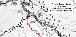 Projeto executivo definirá obras de duplicação, restauração e ampliação da capacidade da rodovia entre Ponta Grossa e Palmeira, em uma extensão de 49,11 quilômetros.