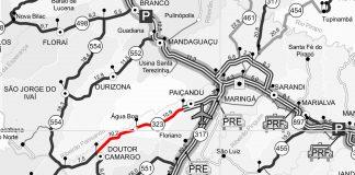 As detonações de rocha estão previstas nas obras de duplicação da PR-323, entre Paiçandu e Doutor Camargo