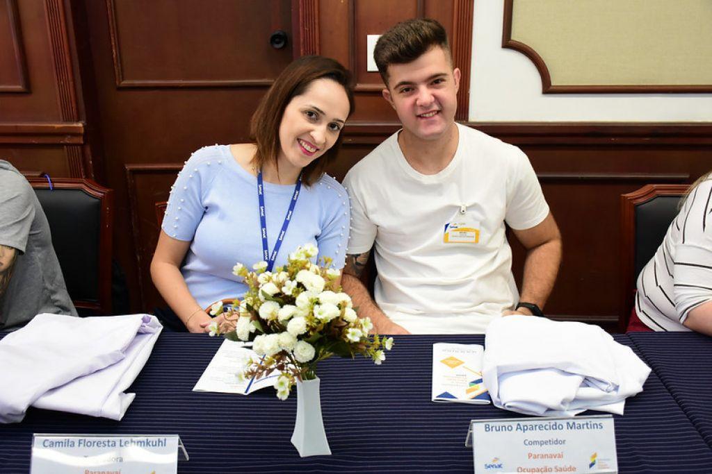 Bruno Aparecido Jorge, 20, aluno do Curso técnico em enfermagem se destacou no atendimento do serviço de saúde. Agora ele se prepara para a etapa nacional