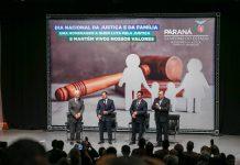Ele participou do evento pelo Dia Nacional da Justiça e da Família. Encontro teve a participação, também, do vice-governador Darci Piana e do ministro da Justiça e Segurança Pública, Sergio Moro.