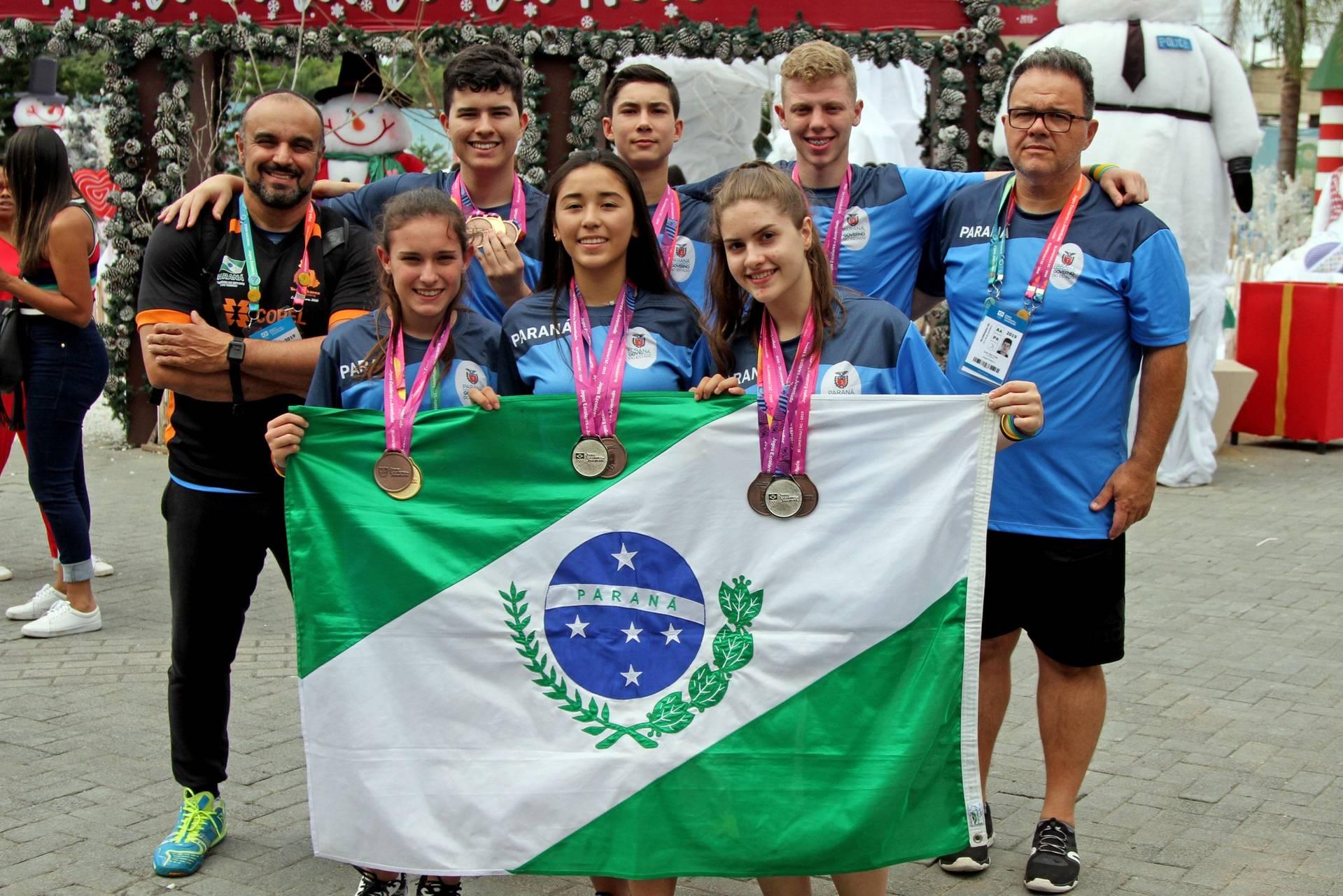 A delegação paranaense contou com 309 pessoas, entre atletas, técnicos e dirigentes.