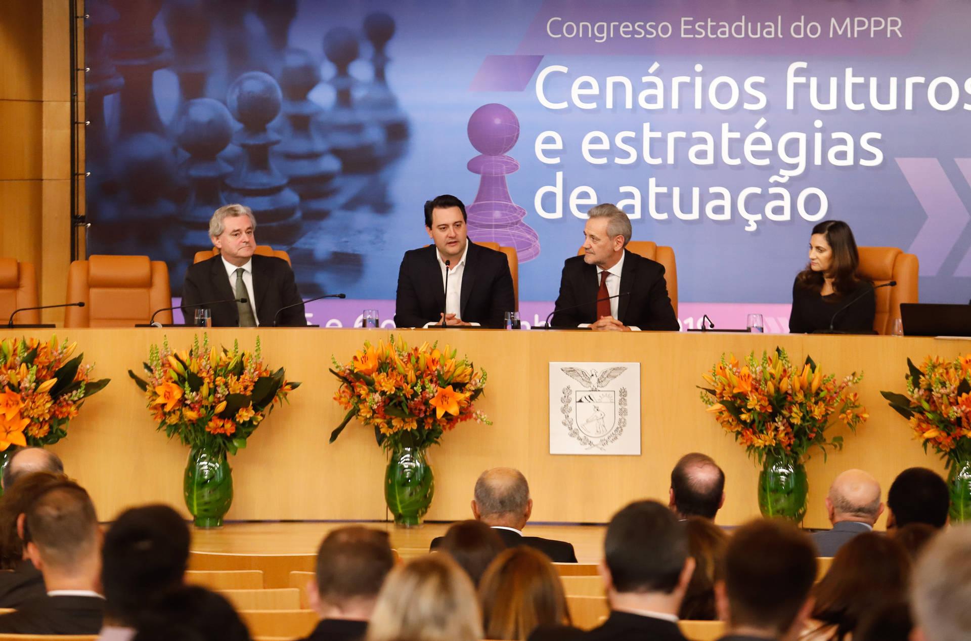 Afirmação foi feita pelo governador Ratinho Junior no Congresso Estadual do MPPR.