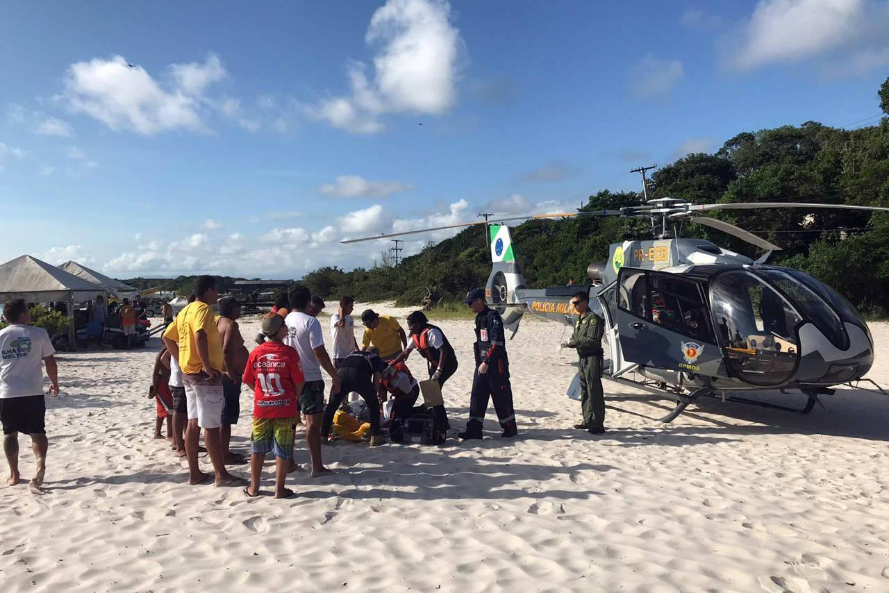 Entre os casos, registrados do dia 21 ao dia 28 deste mês, está o resgate de uma passageira de um navio na Ilha do Mel, na tarde da última sexta-feira (27).