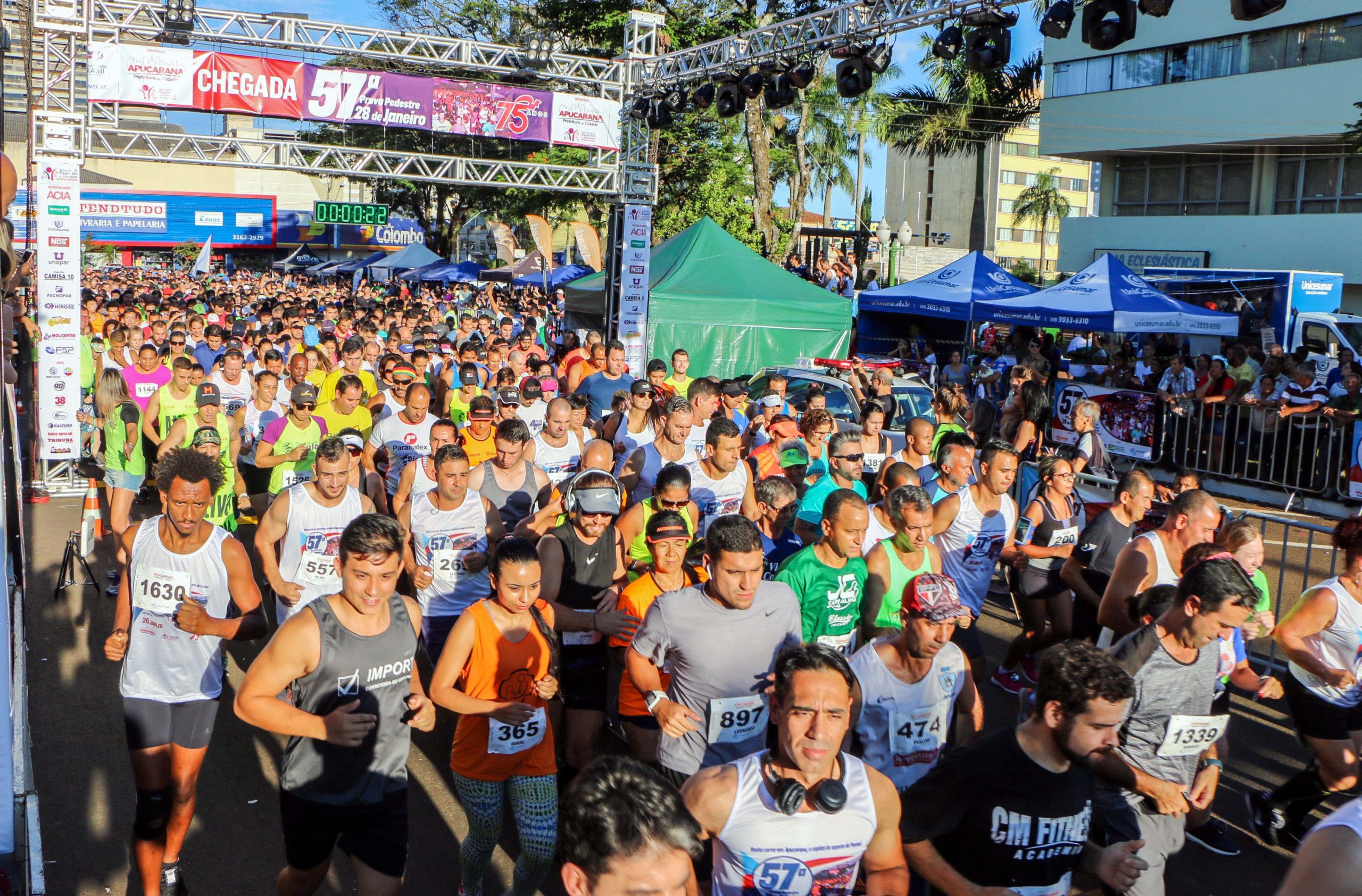 Até esta quinta-feira (16/01), mais de 3 mil atletas já haviam confirmado inscrição na 21ª Vinteoitinha e provas principais de 5 e 10 quilômetros da tradicional corrida de rua que acontece neste dia 25 em comemoração aos 76 anos do município