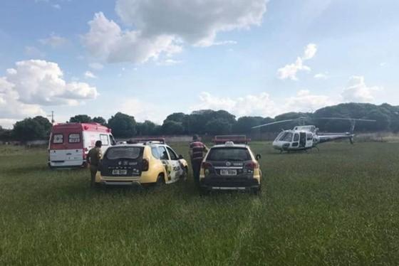 A ação começou quando a Central do Samu/Noroeste recebeu informações de que uma motocicleta teria colidido contra um anteparo