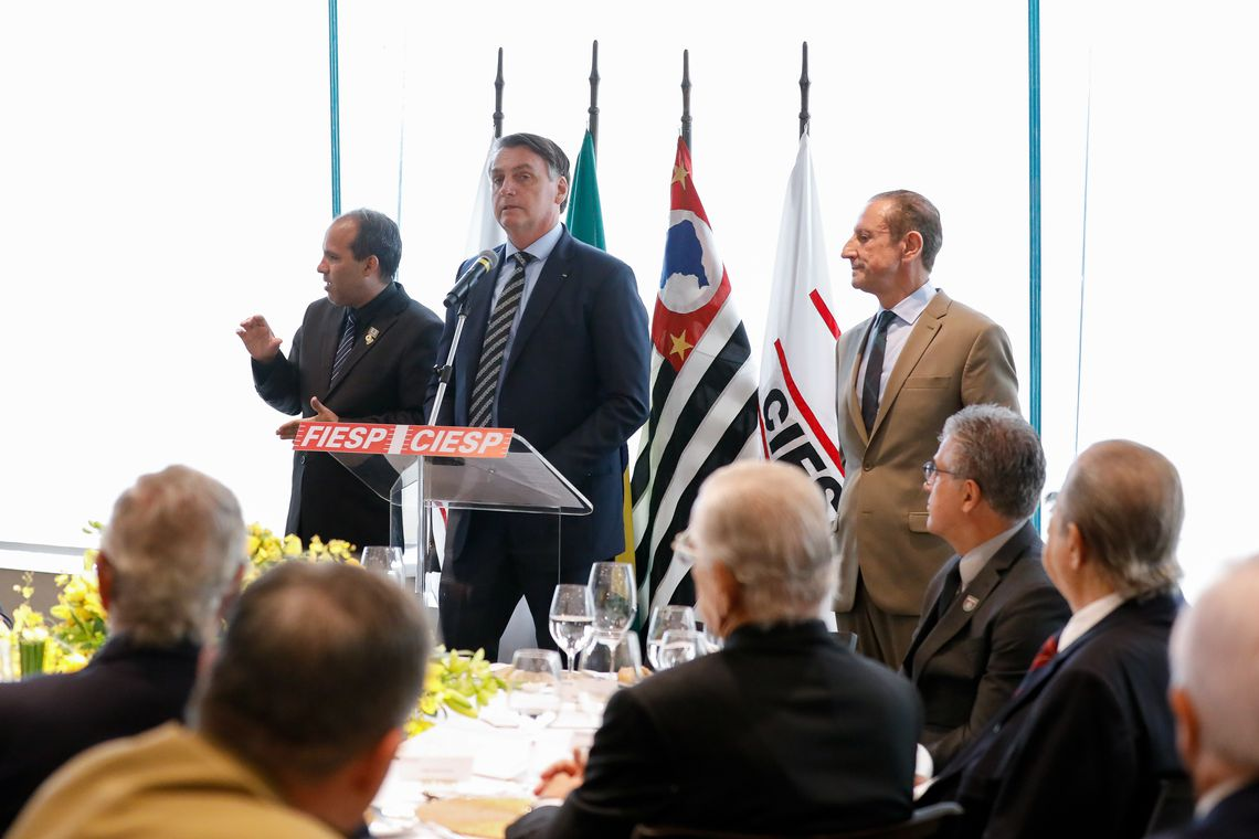 Presidente participou de almoço na sede da Fiesp