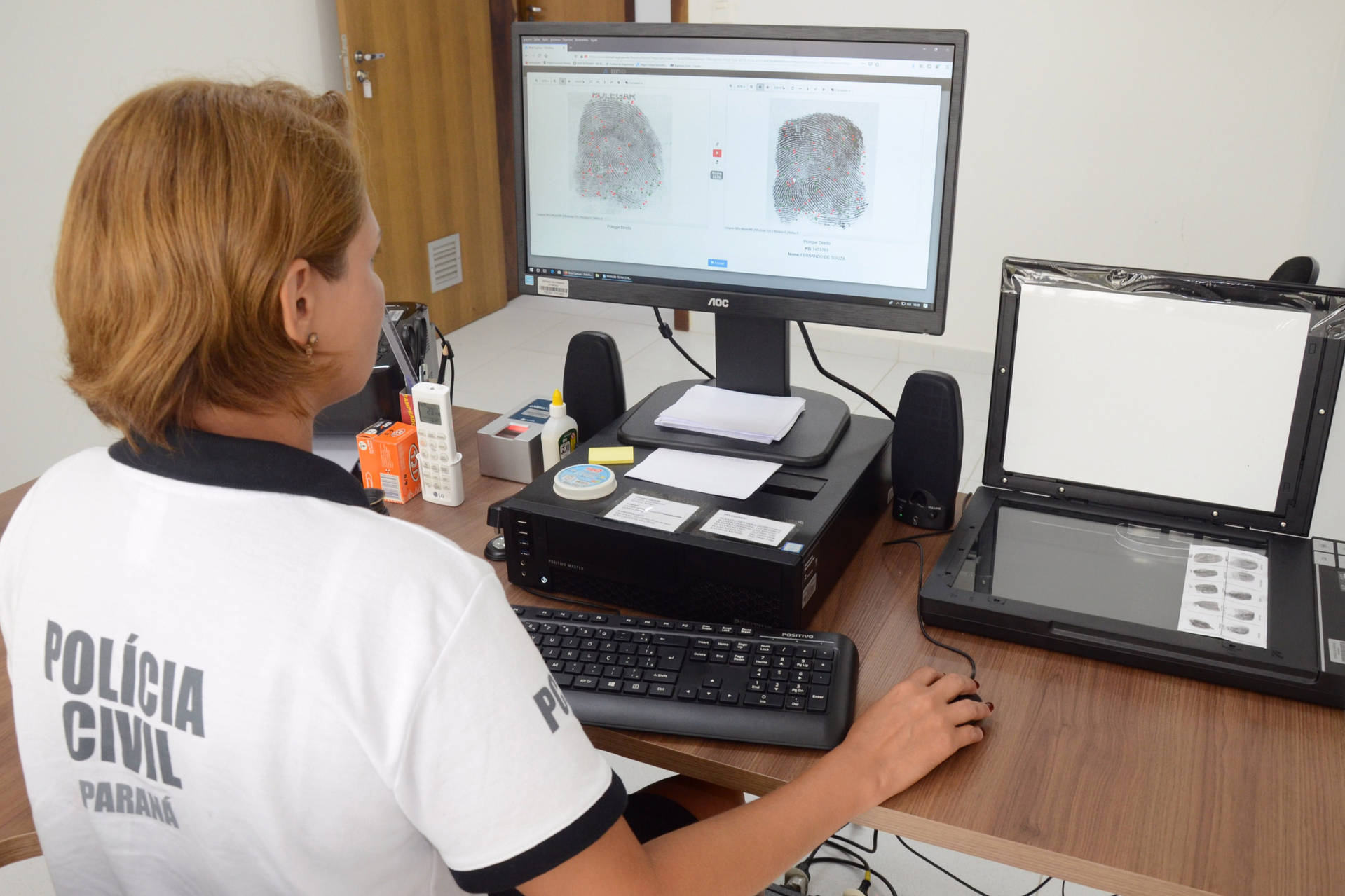 Trabalho da Polícia Civil no Litoral, desde o início do Verão Maior, em dezembro de 2019, 105 pessoas foram identificadas por este sistema.