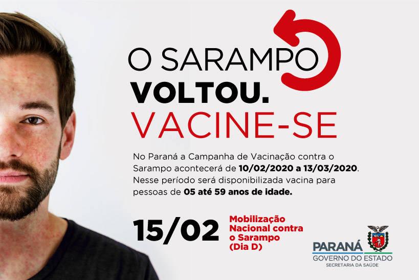 A imunização vai até o dia 13 de março. Para iniciar a campanha, o Paraná tem o quantitativo de mais de 1,245 milhão de doses da vacina