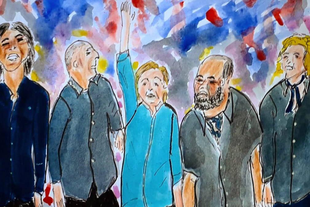 São 50 ilustrações de Doralice Araújo, pintadas com acrílica, inspiradas nas duas passagens do artista britânico pela capital paranaense. A mostra tem entrada gratuita e fica em cartaz até o dia 29
